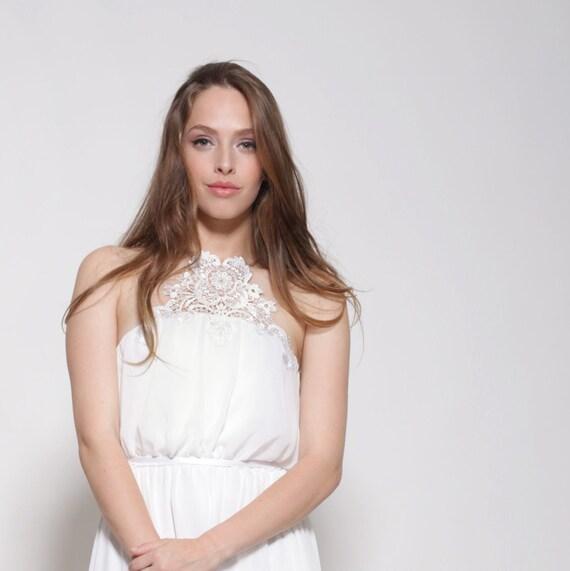 Chiffon Brautkleid Stickerei auf der Vorderseite Brautkleid
