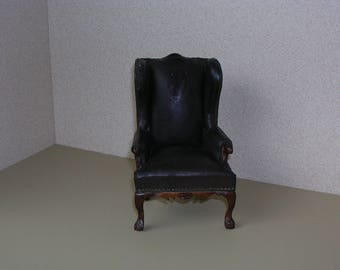 Miniature Vintage Leather chair