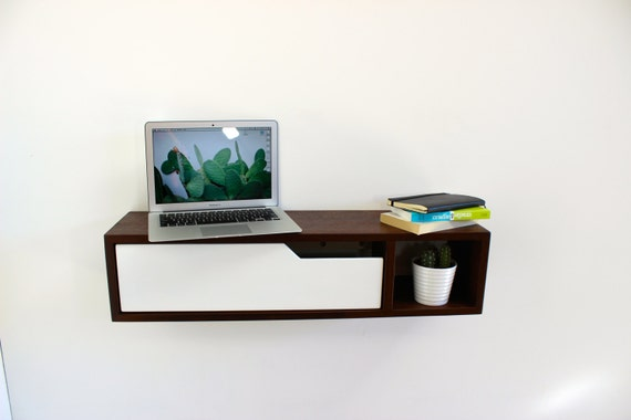 Mid Century Modern Floating Console Entry Table Side Table