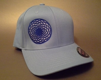 Crop Circle Flexfit Hat curved brim made to order