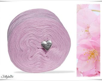 Solid Yarn Merino Pastel Pink 500m