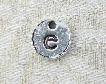 1 or 5, Initial Charm, Charm Bracelet, Lower Case Letter, Silver Letter, Initial Pendant, Alphabet Charm, Lower Case Charm, ALF021e