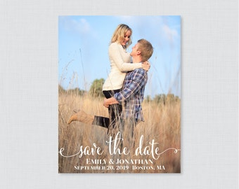 Save the Date Magnets - Photo Save our Date Magnets for Wedding - Wedding Save the Date Fridge Magnets, Personalized Photo Magnets 0002