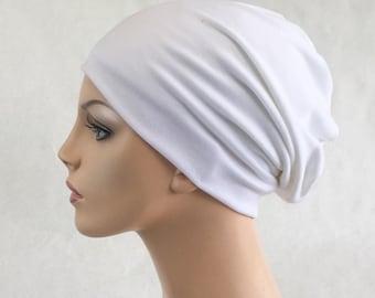 White Turban Head Band, Yoga headband, Wide Headband, Exercise Headband, Pretied Turban 299-16a