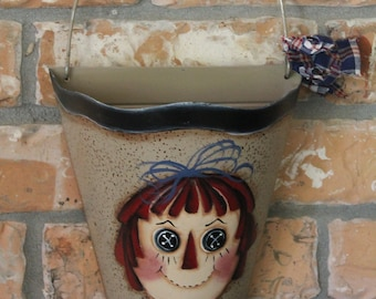 Raggedy Anne Handpainted Wall Tin...Raggedy Collector..Home Decor