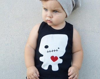 Black Foodoo Love Baby Toddler Kid Tank Top 3M to 6T ON SALE
