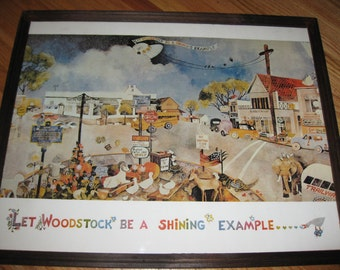 "Let Woodstock Be The Shining Example Framed Print 17 1/4"" x 21 1/4"""