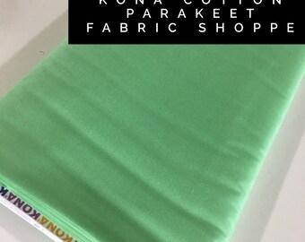 Kona cotton solid quilt fabric, Kona PARAKEET 1221, Solid fabric Yardage, Kaufman, Quilting Cotton fabric, Choose the cut