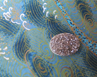 20x15mm Oval Platinum Druzy Quartz