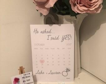 Engagement calendar print