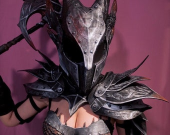 Skyrim Female Daedric Armor Cosplay Outfit Handmade