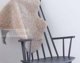 Oyster / Cream / Soft Taupe Swedish Gotland Sheepskin Rug - The Lilla Collection
