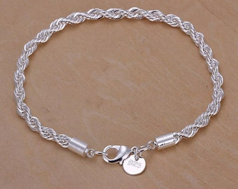 925 silver jewelry bracelet top quality finely processed