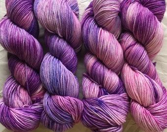 merino dk - OOAK - pink/purple/periwinkle