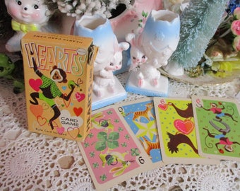 Vintage Childrens Playing Cards-Scrapbooking-Altered Art-GREAT LOT-Hearts-Whitman