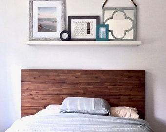 White Floating wall shelf with Double beaded Decorative Trim, Modern floating shelves, White floating shelf, Bedroom shelves