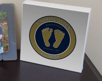 Custom Made Fighting Irish Baby Footprint