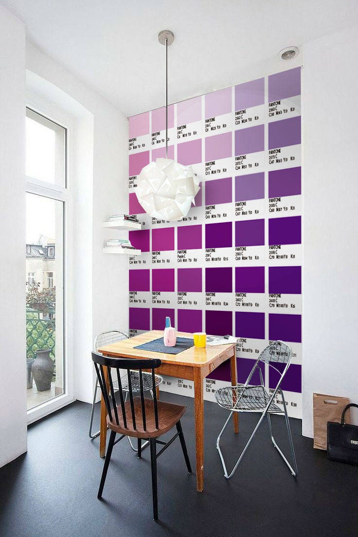 Pantone-lila Treppen Aufkleber Carrelage Adhésif Treppe