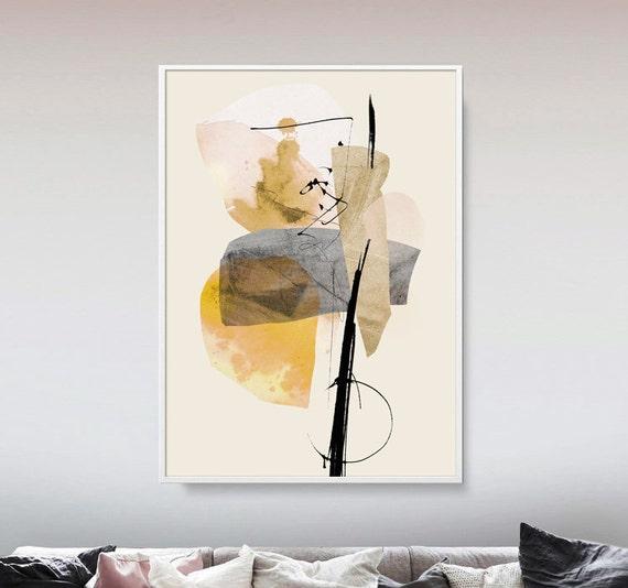 Large abstract art a2 printable art minimal art grey and for Minimal art referat