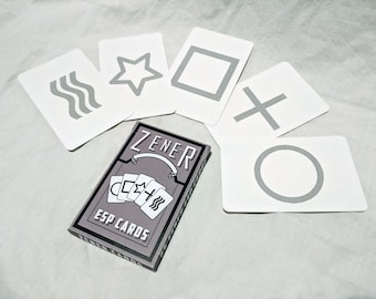 Zener ESP cards (Boxed deck of 25 cards)