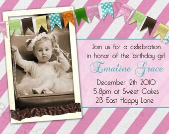 Birthday Party Invitation -- Beautiful Girl