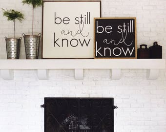 1'x1' | Be Still and Know | Square Wood Sign
