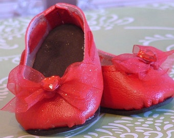 Red Bow Ballet Flats