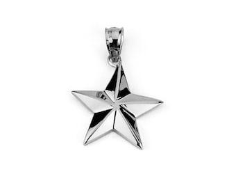 Gold star pendant etsy 14k star pendant 14k star gold star pendant gold star gold pendant aloadofball Images