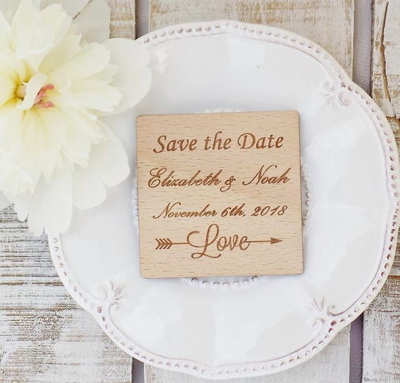 Save The Date Magnet Wedding Favor Magnet Quinceanera Invite