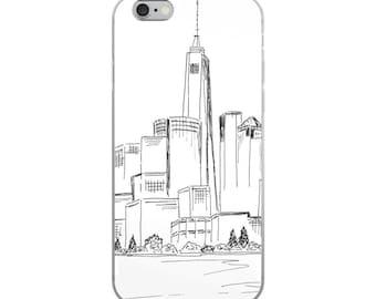 New York phone case, iPhone X, iPhone 7/8, 7 Plus/8 Plus, NYC iPhone 6 Plus/6s Plus case, NYC 6/6s cover, black and white phone case