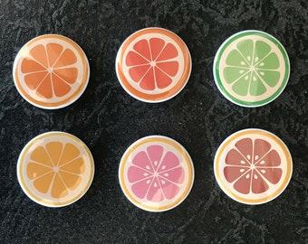 Citrus Slice Buttons (Set of 6)