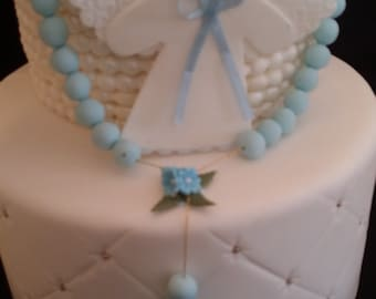 Angel Cake Topper, Baby Baptism Cake Topper, Rosary Cake Topper, First Communion Cake, Baptisn Favors, Girl Baptism Favor, Baptism For Twins