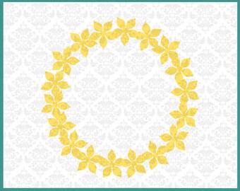 CLN0216 Flower Boquet Daisy Spring Time Hello monogram SVG DXF Ai Eps PNG Vector Instant Download Commercial Cut File Cricut Silhouette