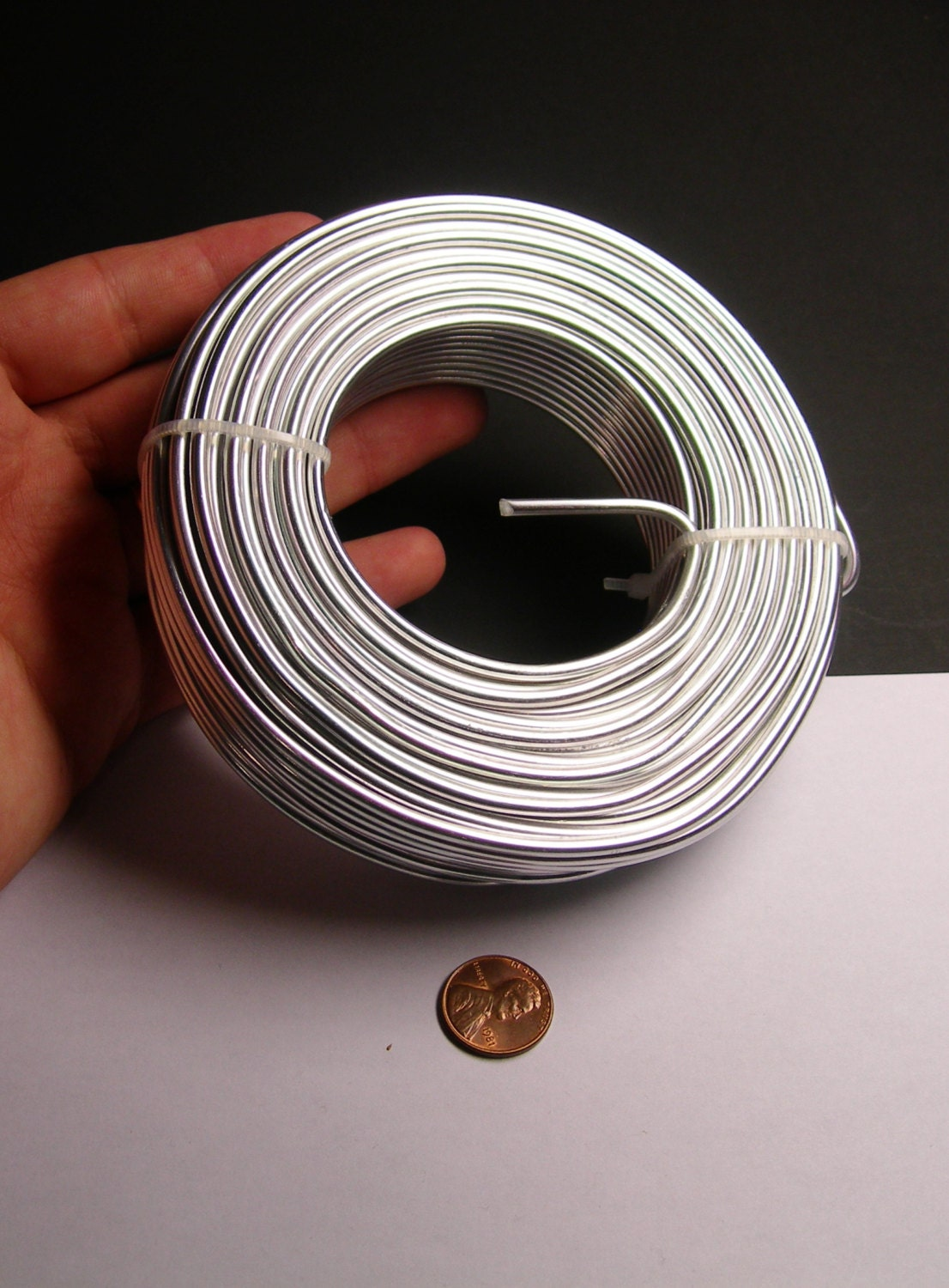 Aluminum wire 9 gauge - 3mm - 78 foot rool - good quality - silver ...