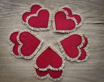 Valentines Day Decor Valentine Heart Linen Heart Wedding Favor Favors Bridal Shower Favor Love Favor Party Favor Heart Decor Wedding Decor