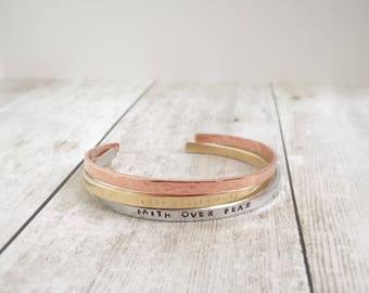 Skinny Cuff Layering Bracelet