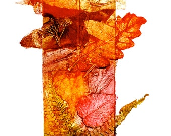 Autumn Walk, Collagraph