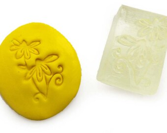 Flowers Soap Stamp with handle or without