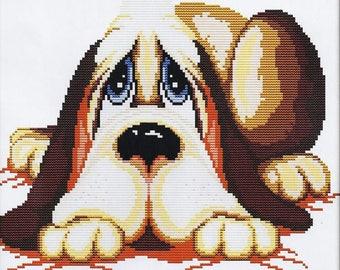 Cross Stitch Kit Dog DMC threads