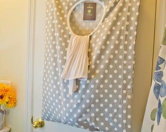 Laundry bag/ cotton bag/Hanging Laundry bag/wall laundry bag/big laundry bag/Hanging hamper laundry bag/unique gift/useful gift/gift