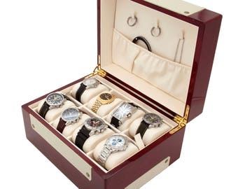 Leather Watch and Jewelry Box