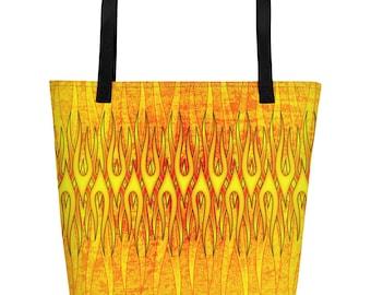 Flame On Beach Bag