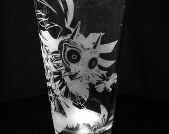 Legend of Zelda- Skull Kid- Majora's Mask Pint Glass