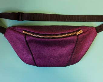 Purple Denim Bumbag/ Fanny Pack/ Festival bag