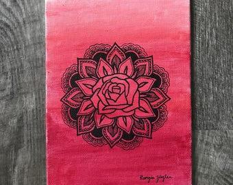 Original Red Rose Mandala