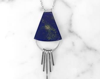 Dangling Lapis Lazuli Necklace