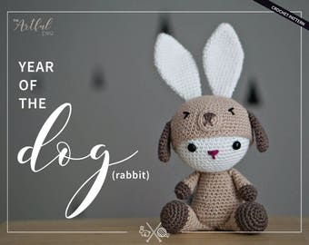 Year of the Dog (Rabbit) Crochet Pattern PDF - Dress up Bunny Amigurumi