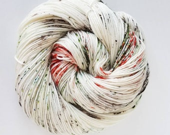 Winter Dogwood , Hand Painted Indie Dyed Yarn, Dyed to Order