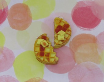 Waffle Friendship Halves, Waffles, Stranger Things, Eggos, Polymer Clay, Handmade, Waffle Gifts, Friendship, Best Friends Forever, Fake Food