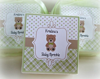 Baby Shower Favors, Baby Boy, Teddy Bear, Shower Favors, Soap Favors, set of 10